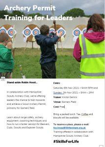 Archery Permit Training for Leaders @ Garners Field, Tilford
